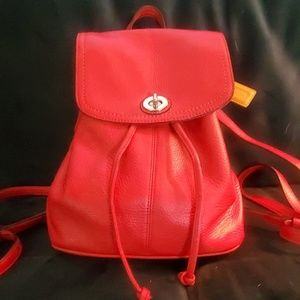 Red Coach backpack bag